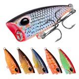 ZANLURE DW1120 10Pcs/Set 4.2cm 3.5g Carp Fishing Lure Topwater Popper Fishing Bait Artifical Wobbler