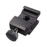 JT-211 Aluminum Alloy Adjustable Speedlite Flash Cold Shoe Hot Shoe Mount Adapter with 1/4 Screw