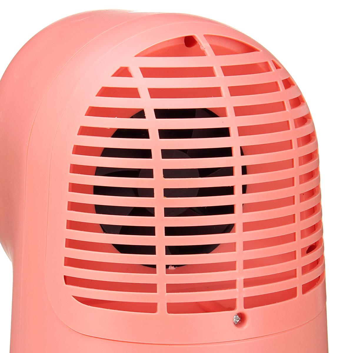 500W Portable Electric Space Heater Desktop Heating Fan Handy Air Warmer Home Office