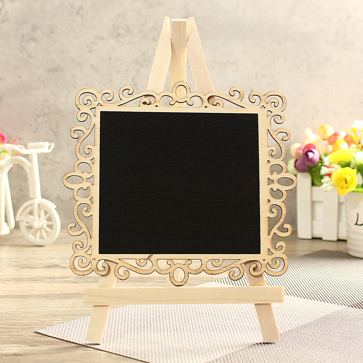 mini vintage wooden blackboard table number signs message memo chalk rh alexnld com