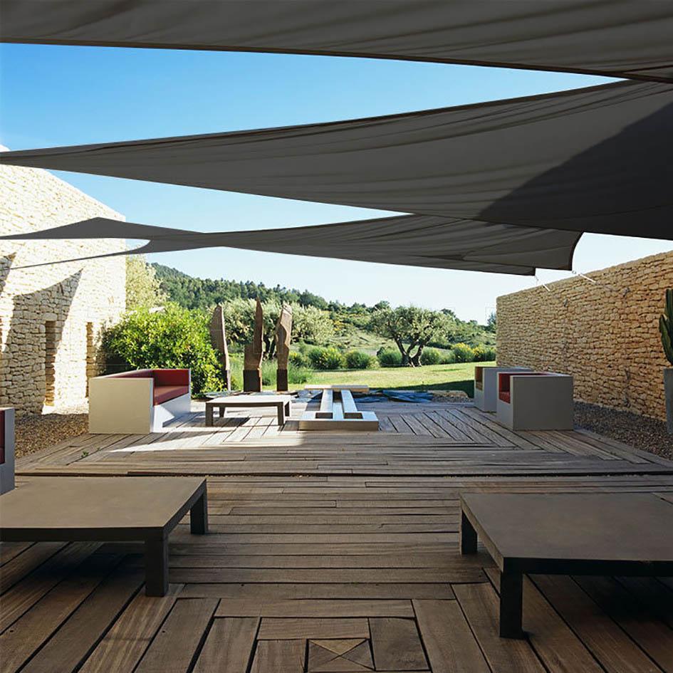 300D 160GSM Rectangle Sun Shade Sail Garden Patio Awning Canopy Sunscreen UV Block Outdoor Camping