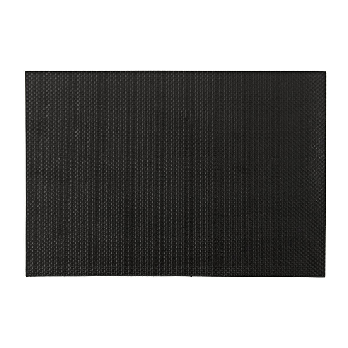 0.5-5 mm Black Carbon Fiber Plate Panel Sheet Board Matte Twill Weave 200x300x