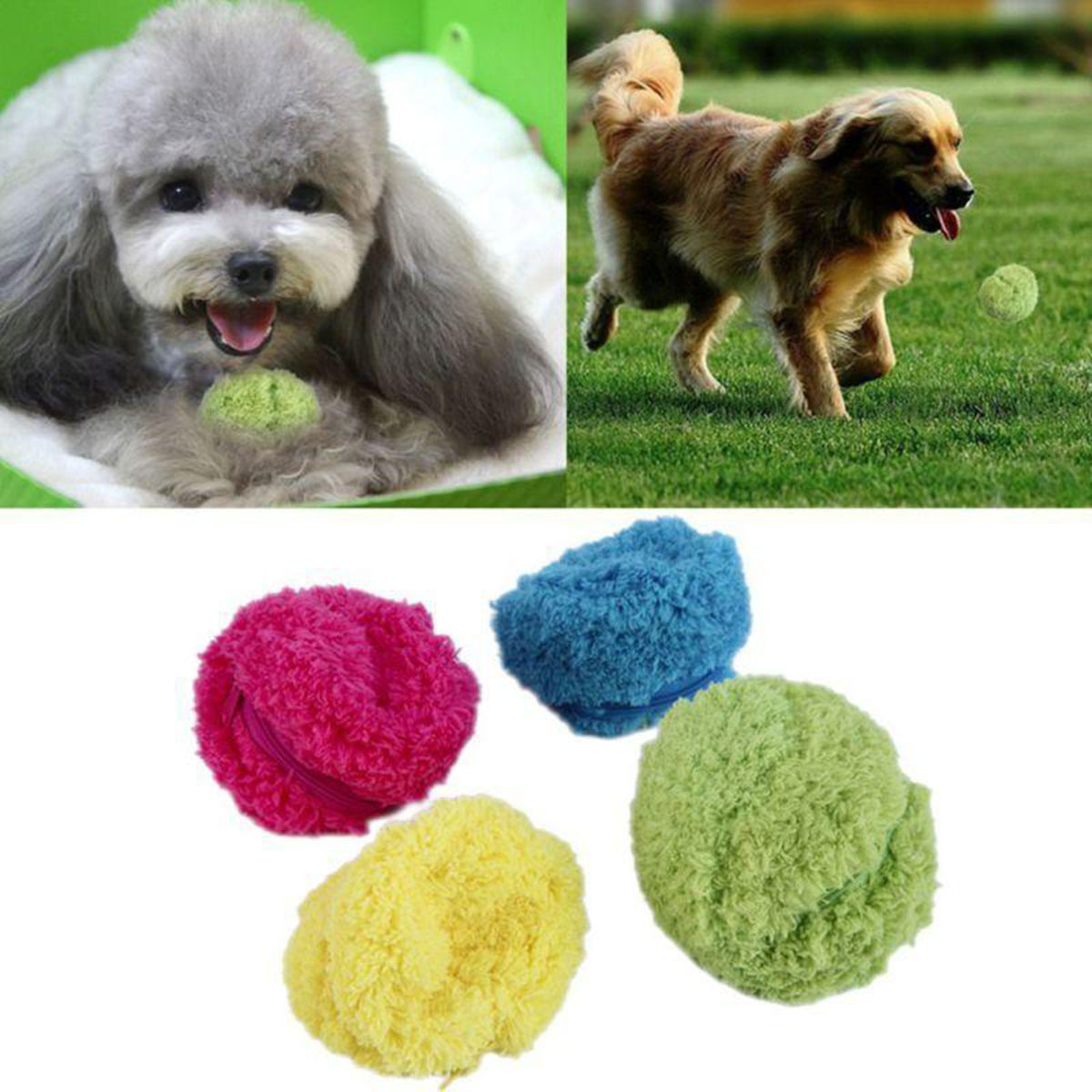 4Pcs/Set Magic Roller Ball Toy Automatic Roller Ball Pet Cat Dog Toys Hunting Dog Supplies