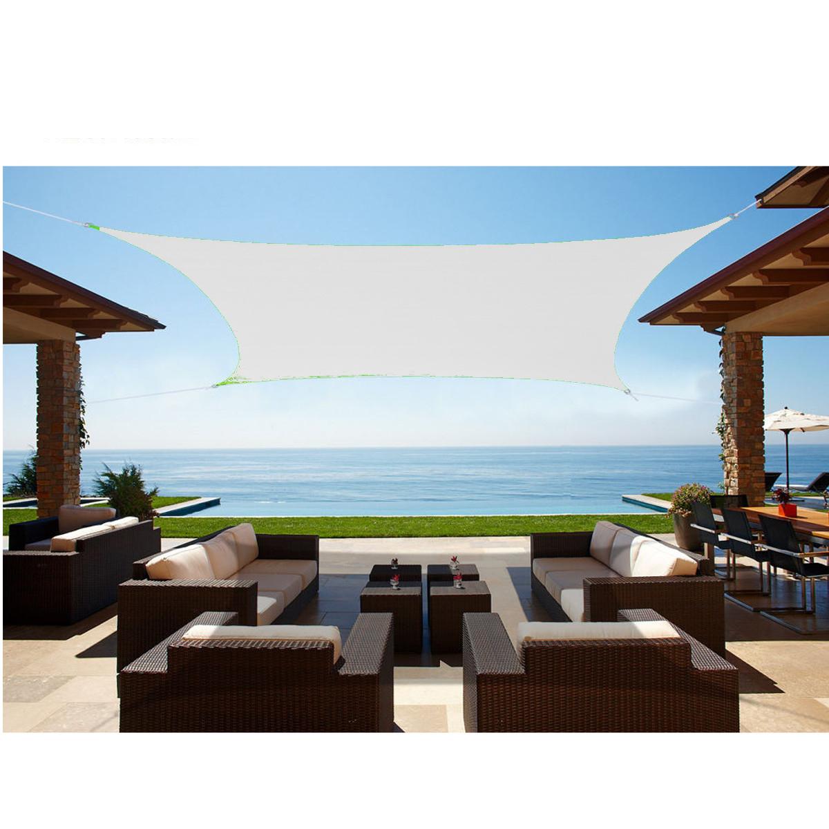 2/3/3.6/4M Sun Shade Sail Outdoor Canopy Patio UV Block Garden Shelter Triangle Rectangle Cover