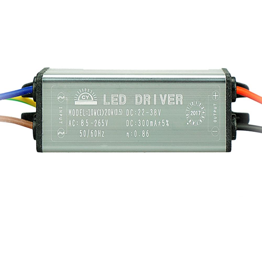 AC85-265V To DC22-38V 10W 20W 30W 50W IP67 No Flicker Convert LED Driver for Flood Light