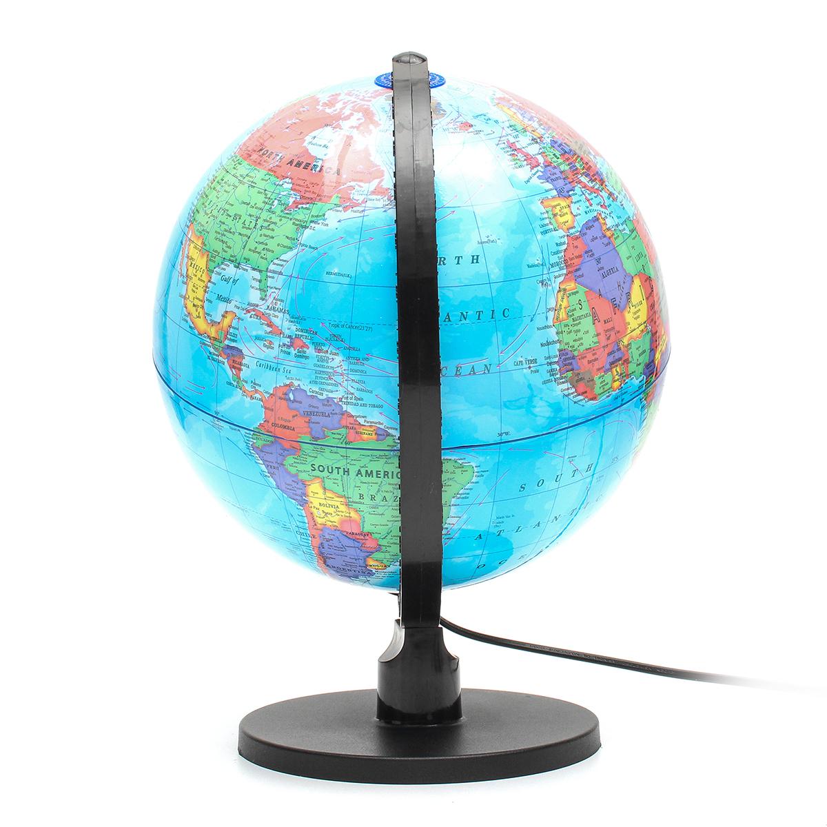 25cm 110V World Globe Night Light Geography LED Lamp Kids