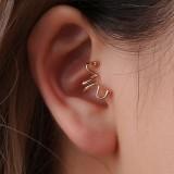 Fashion Ear Clip Earring Snake Bone Animal Matchstick Ear Cuff Earrings Ethnic Jewelry for Women