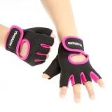 KALOAD 1 Pair Lycra Fitness Gloves Anti-slip Half Fingers Gloves Sport Exercise Training Gym Gloves