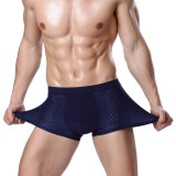 4 Pieces Ice Silk Mesh Breathable Soft Light Cool Comfy U Convex Boxer Briefs for Men