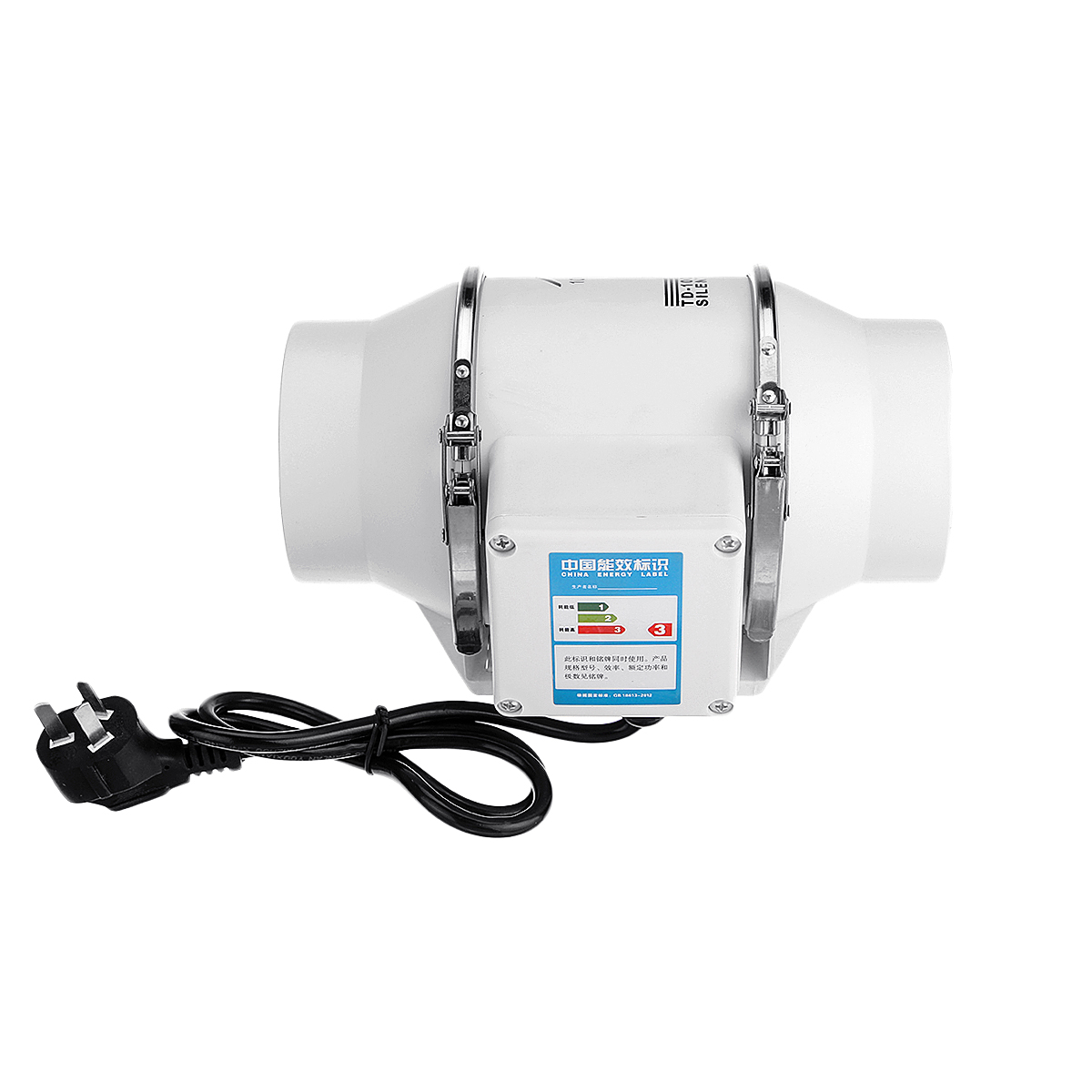 4/6/8 Inch Ventilation Inline Extractor Fan Window Wall Kitchen Toilet Exhaust Blower45W 75W 135W