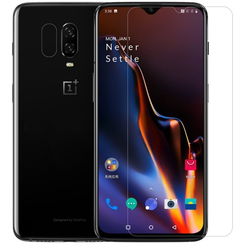 NILLKIN Anti-explosion Clear Tempered Glass Screen Protector + Lens Protective Film for OnePlus 6T