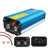 2500W Peak Pure Sine Wave Inverter 12V/24V to 110V/220V LCD Solar Power Converter