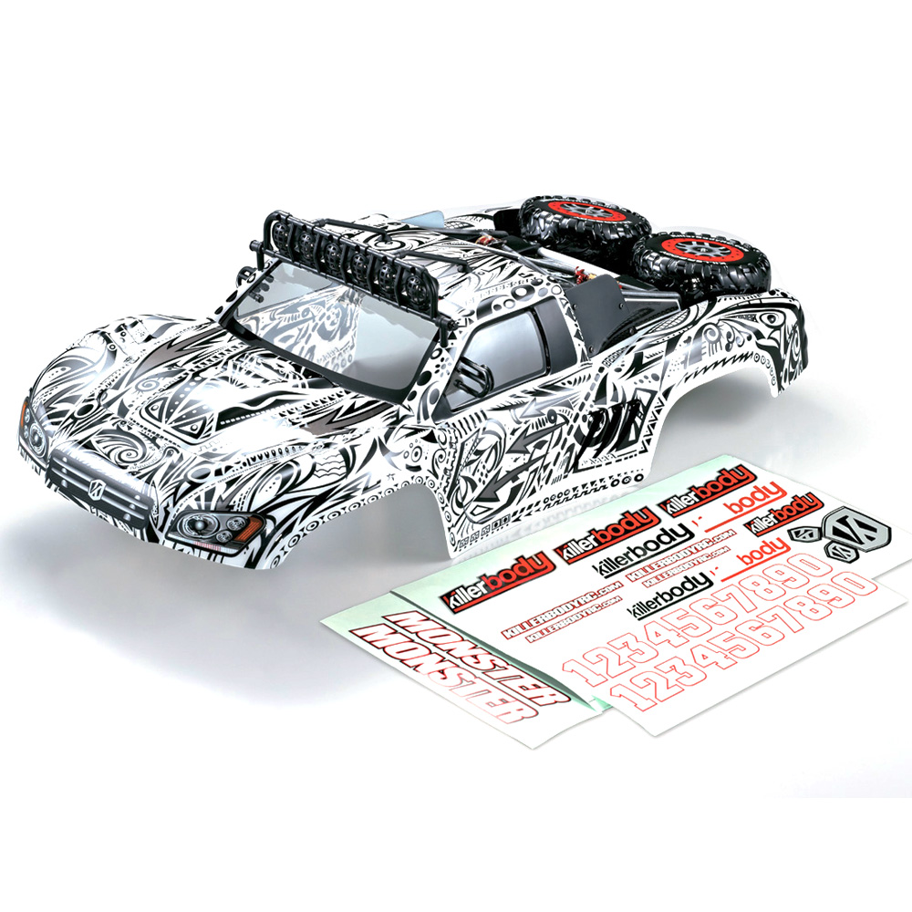 Killerbody 1 10 Rc Car Body Shell Finished Short Course Truck Tattoo Graphics For Traxxas Hpi Ae Alexnld Com