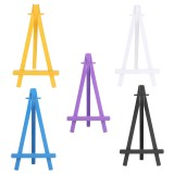 Colorful Wooden Tripod Easel Display Painting Stand Card Paintings Holder Wedding Party
