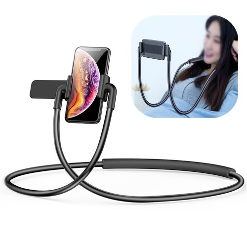 Baseus Neck Waist Hanging Adjustable Clip Lazy Holder Desktop Stand for iPhone Xiaomi Mobile Phone