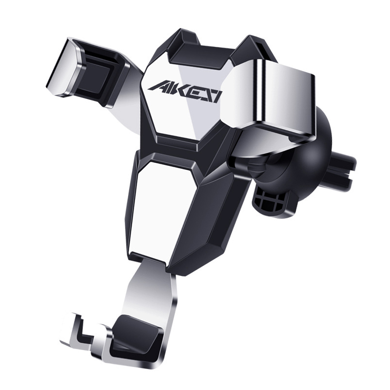 Universal Metal Gravity Automatic Lock Multi-angle Rotation Car Holder for iPhone Mobile Phone