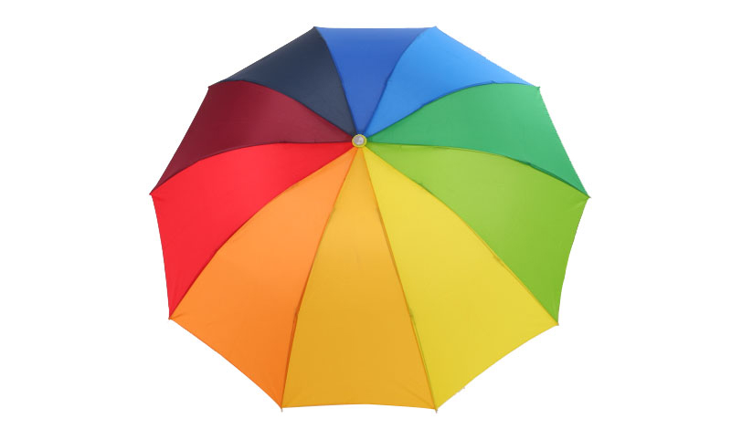 Rainbow outdoor Three-folding Unbrella Parasol 8 Rib Wind Resistant For Women Tarvel Umbrella