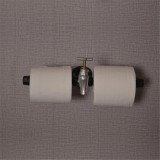 Retro Industrial Toilet Paper Roll Holder Pipe Shelf Floating Holder Bathroom Wall Mounted