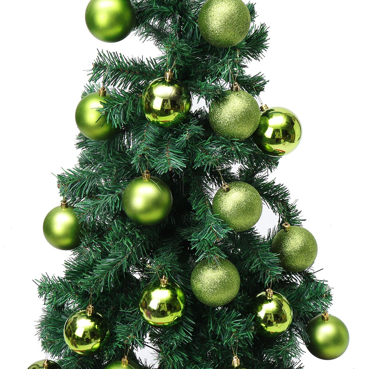 6//12Pcs Christmas Snowball Balls 40-100mm Party Ornaments Bauble Xmas Tree Decor