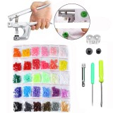 600Pcs Fastener Snap Kit T5 Snap Buttons Pliers Helper Handheld Sewing Tool