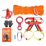 CAMNAL 10m 20m Climbing Rope Climbing Slow Descender Device Emergency Rescue Survival Tools Kits