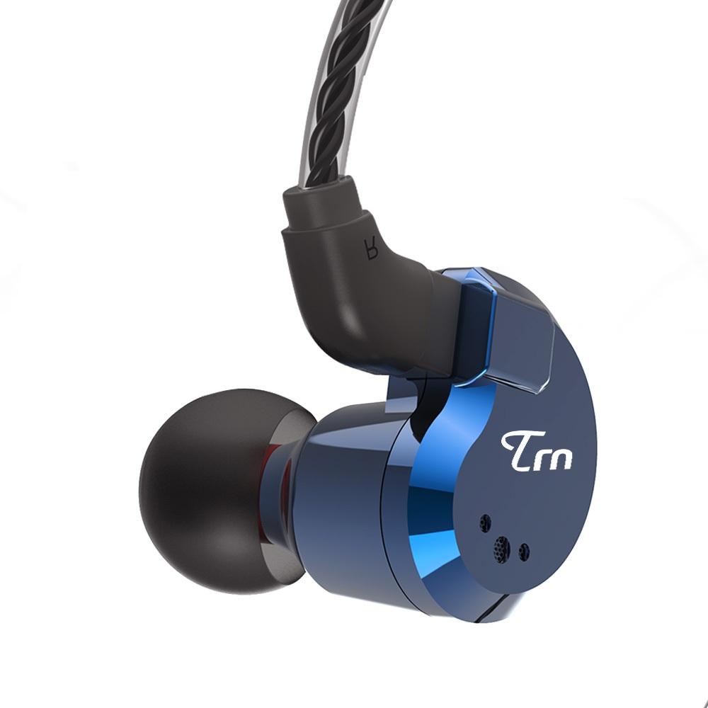 [8 Drivers] TRN V80 2BA+2DD Hybrid Earphone HiFi Dual Balanced Armature Dual Dynamic Bass Headphone