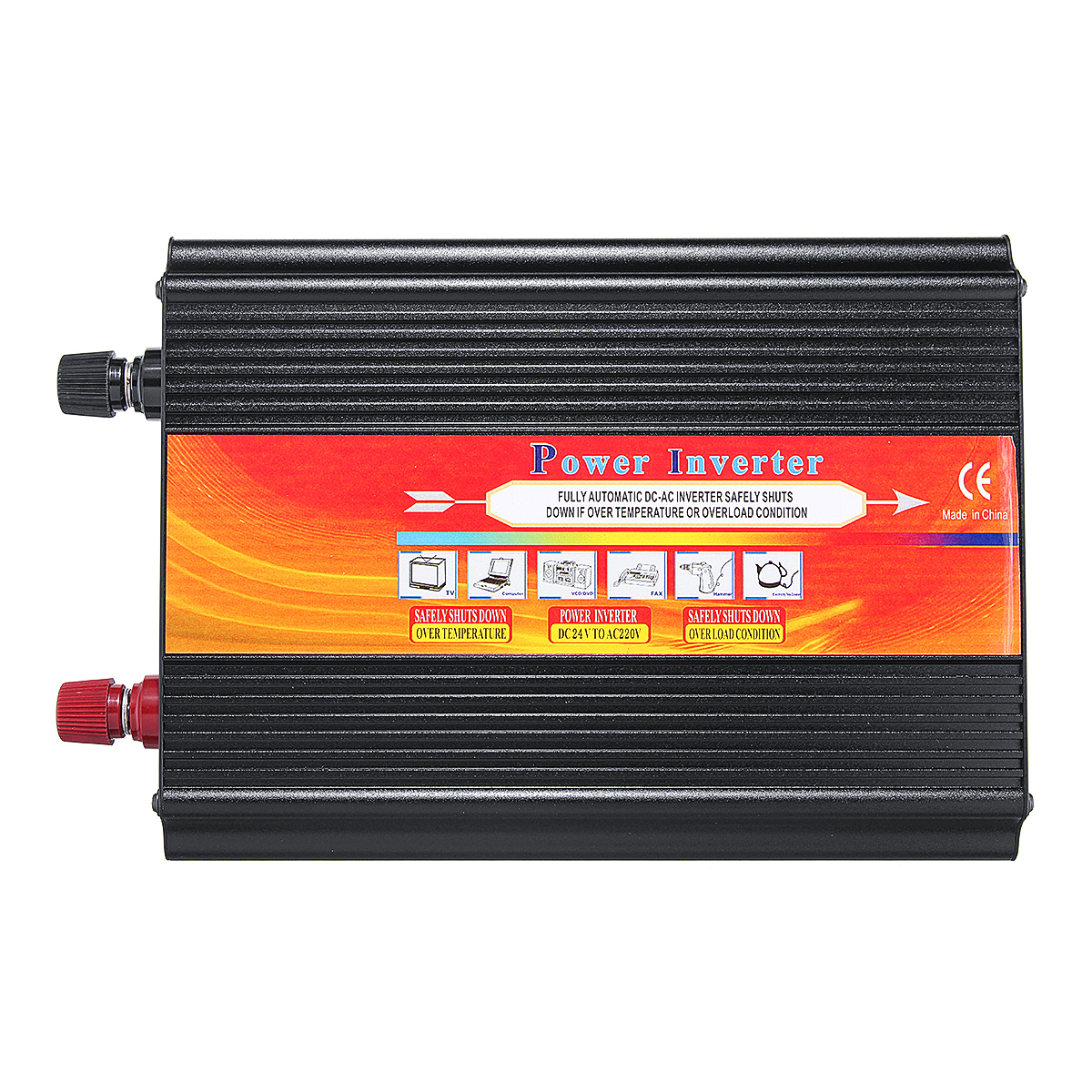 5000W Smart Solar Power Inverter DC 12V/24V to AC 220V/110V Converter Intelligent LCD Display