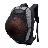 IPRee Oxford USB Backpack Travel Waterproof Laptop Bag School Bag Sport Shoulder Bag With Ball Net