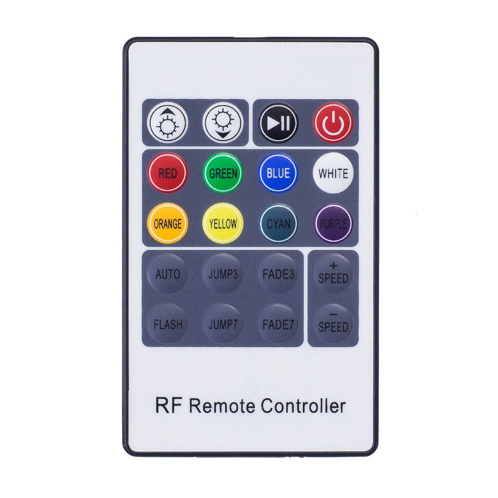 DC5-24V 3*4A RGB 3528 5050 2835 LED Strip Controller 20Keys RF Remote Control