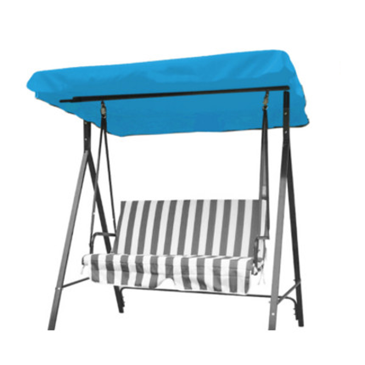 2 3 Seaters Swing Chair Garden Hammock Anti Uv Replacement Canopy Spare Cover