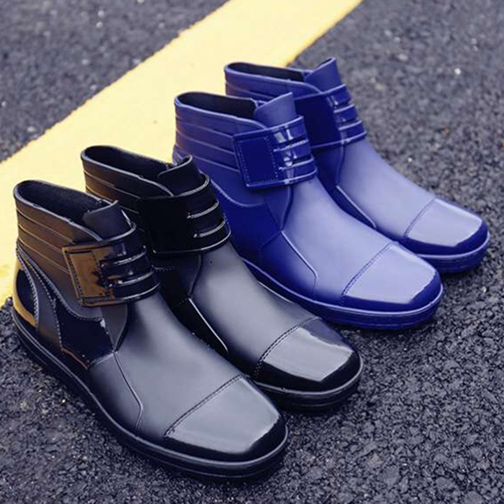Men Casual Waterproof Snow Boots Rainy Days Shoes Ankle Boots