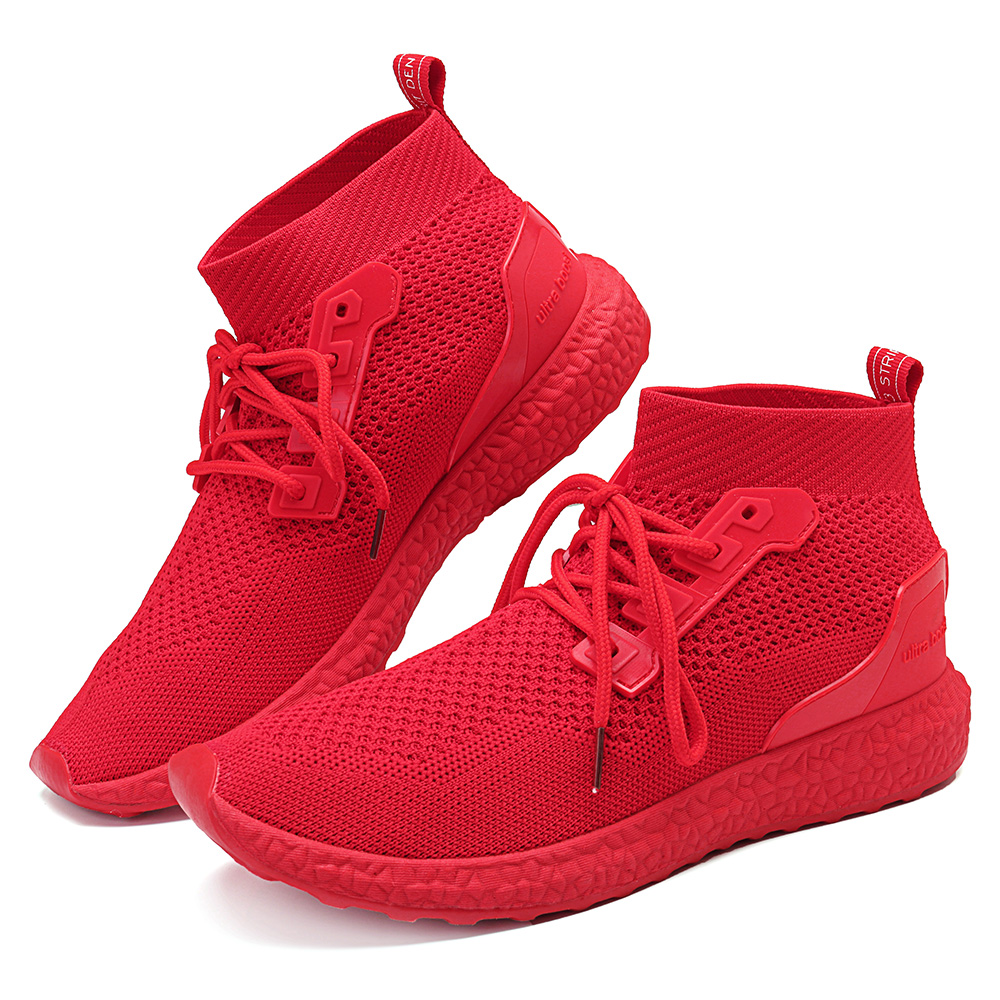Men Breathable Mesh High Top Sneakers Casual Sports Shoes