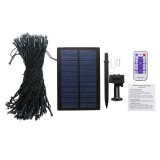 Solar Powered Dimmable 17M 8 Modes Timer 100 LED Fairy String Light Christmas Decor Remote Control
