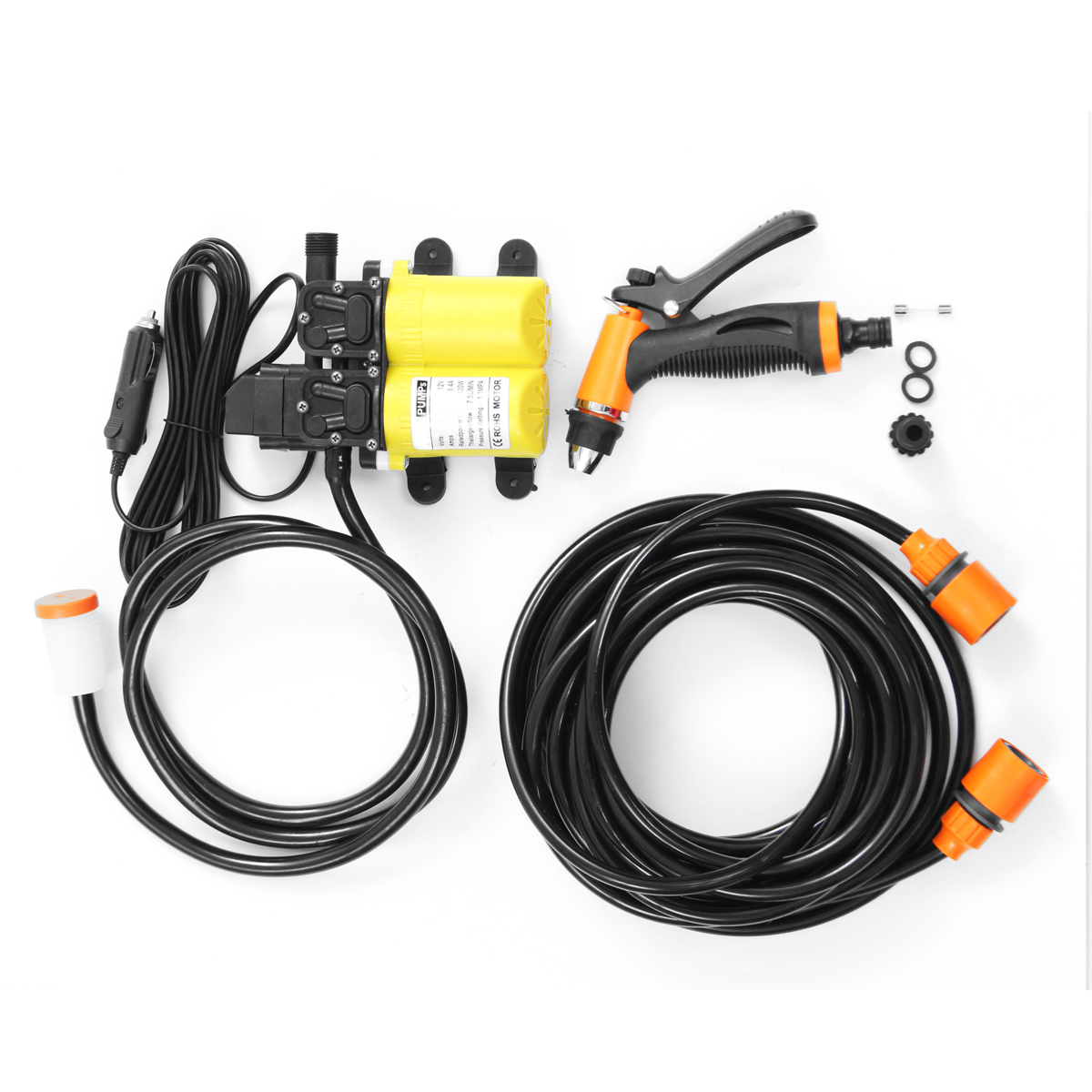 12V 100W Mini Portable Electric Washer Pump Car Washer Pump Washing Tools Set