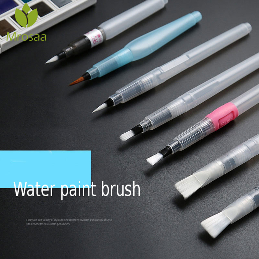 Portable Paint Brush Water Brush Pen Soft Watercolor Brush Pen Painting Drawing Water Brush