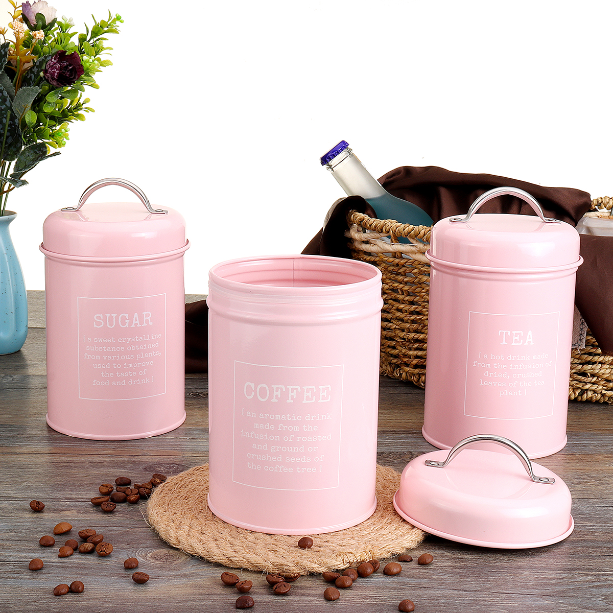 3pcs Storage Tanks Canister Tea Coffee
