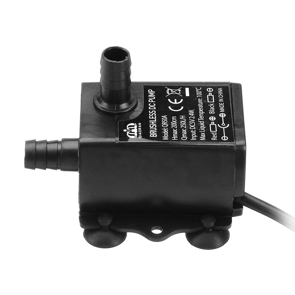 Machifit DC 5V 12V 6W Water Pump USB Female Plug Ultra-quiet Mini Brushless DC Water Pump