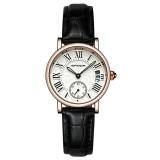 SANDA P206 Skinn Kvinner Mote Stil Lady Dress Quartz Watch