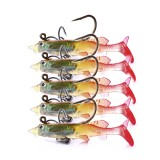 ZANLURE 5pcs/set 6cm 4g Soft Plastic Wobblers Artificial Bait Silicone Fishing Lure Sea Bass Carp