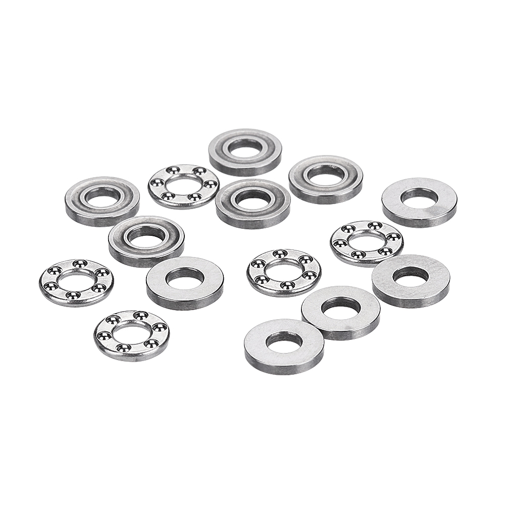 Machifit 5pcs Flat Thrust Ball Bearing ID. 2.5/3/4/6/7/8mm Mini Miniature Bearings F25-6 F3-8 F4-10