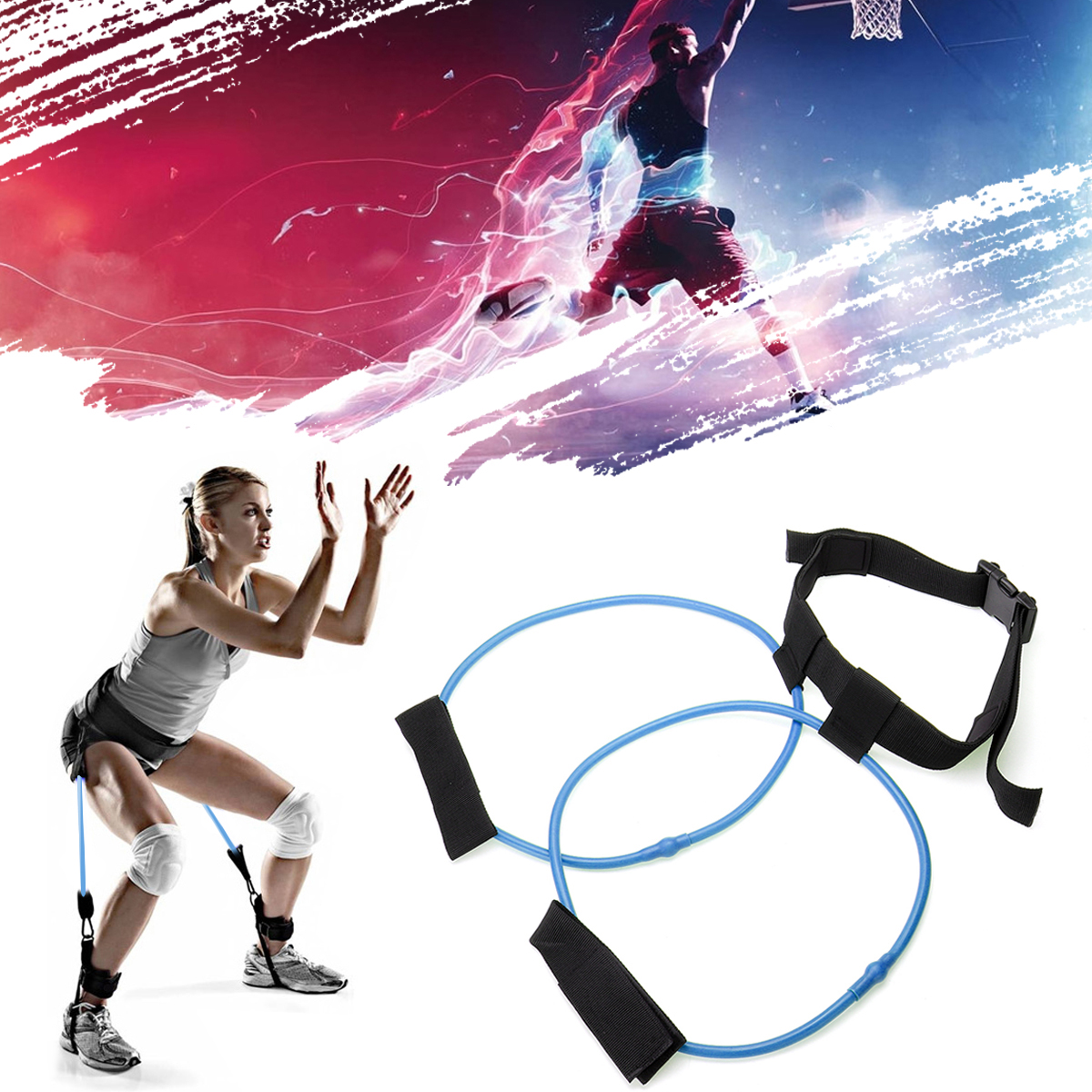 30LB Booty Resistance Bands Belt Gym Exercise Training