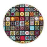 60/80/100/120CM Mandala Pattern Round Carpet Living Room Area Rugs Floor Mat