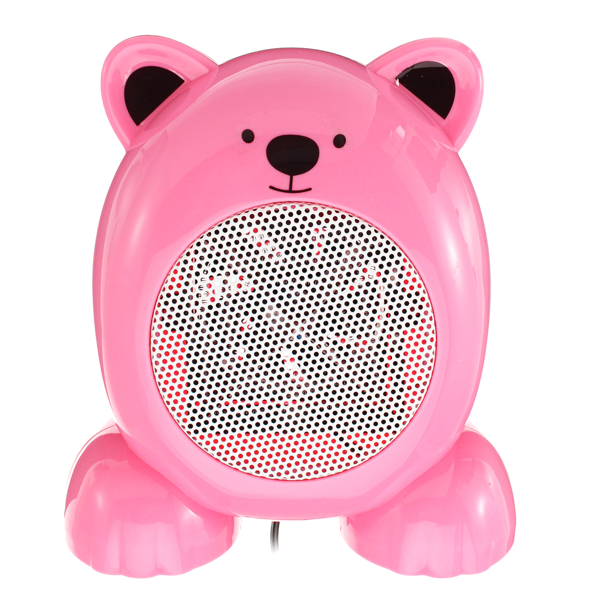 350W Mini Electric Heater Fan Heater Cartoon Bear Shape Handheld Heater Office Home Warmer Fan
