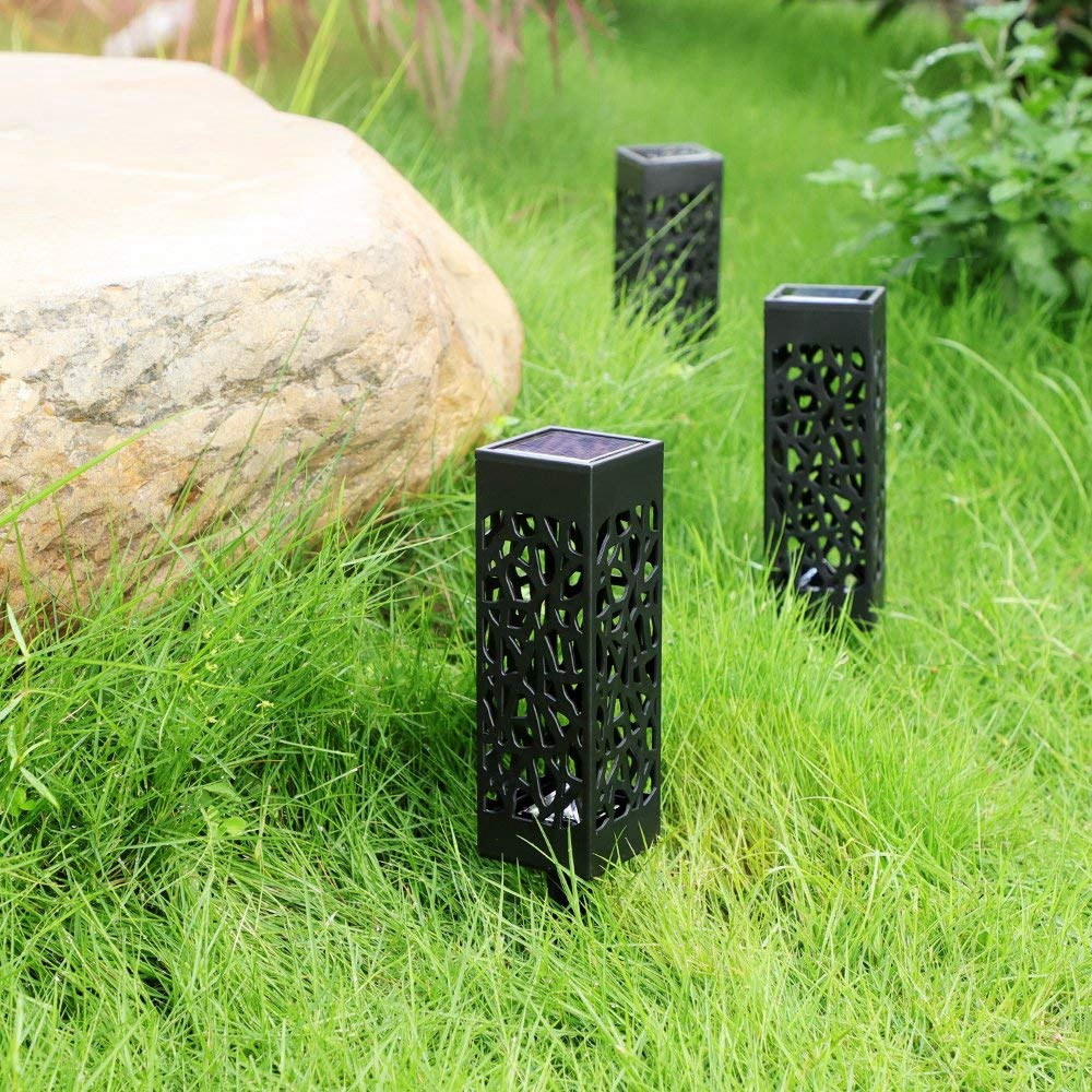 Outdoor Solar Lights Ireland: Solar Power Light Sensor Hollow Out Lawn Lamp Waterproof
