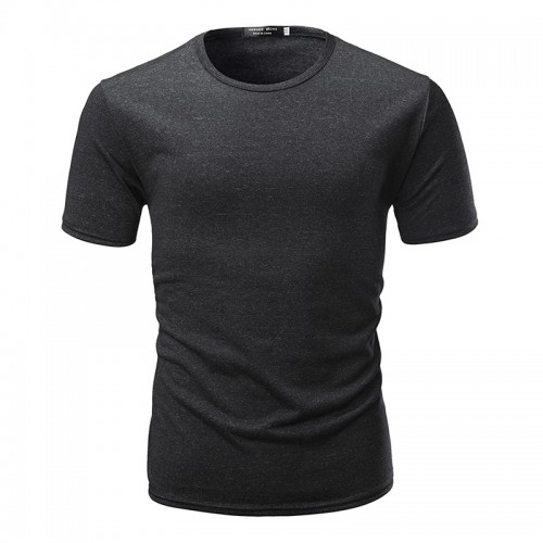 Summer Mens Cotton Short Sleeve T-shirts O-neck Slim Cotton Casual Tops