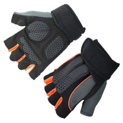 KALOAD 1 Pair Anti-slip Half Fingers Gloves Outdoor Fitness Sports Exercise Training Gym Gloves