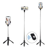 Bakeey Bluetooth Wireless Mini Tripod Selfie Stick Monopod with Remote Control for iPhone 8 Xiaomi