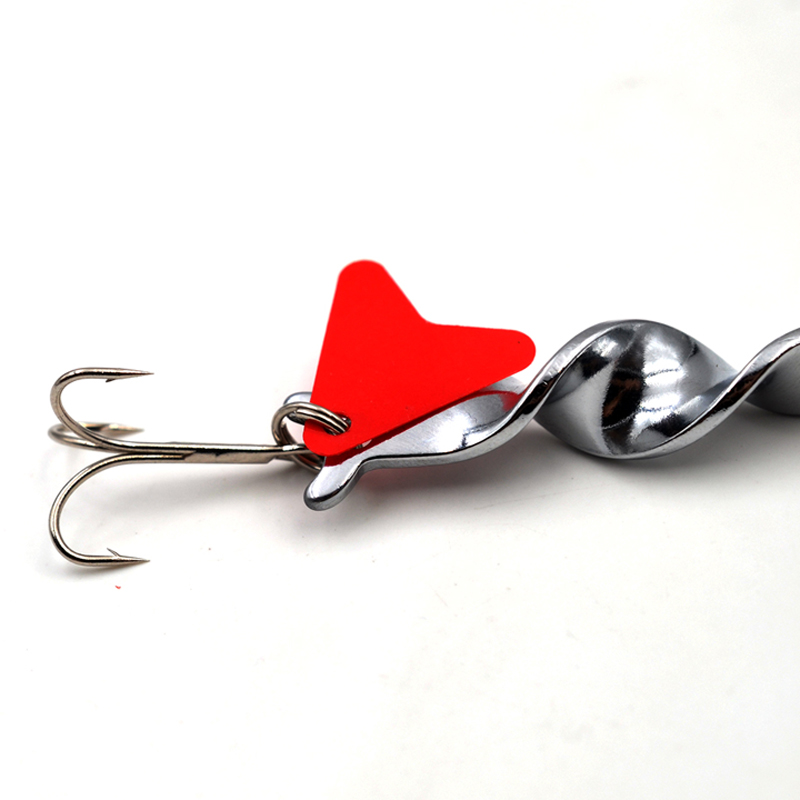 1PCS 10g 14g 21g 28g Metal Spiral Spinner Hard Baits Spoon Fishing Lure Treble Hook Spinner