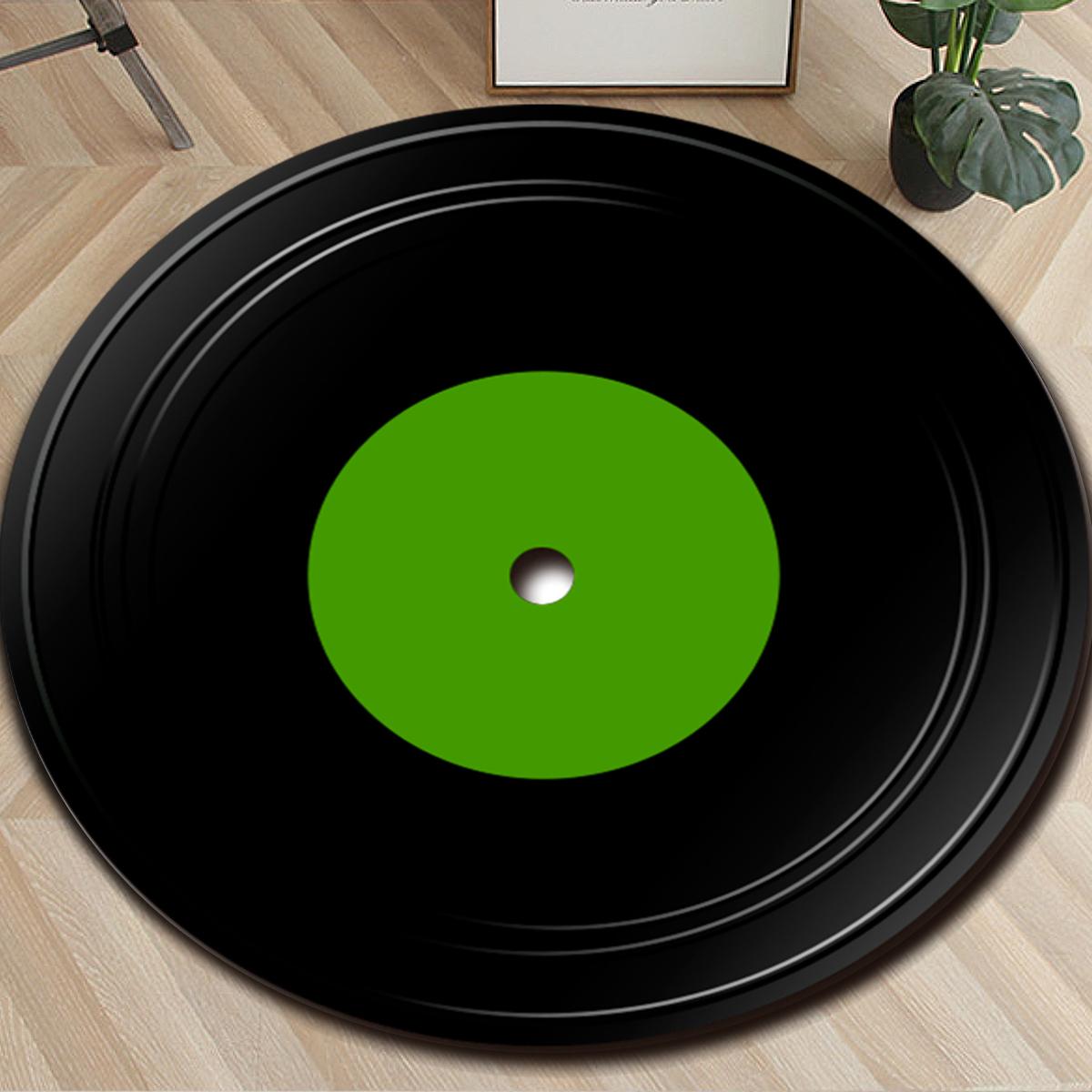 Fashions Vinyl Record Carpet Round Floor Mat Decorative Indoor/Outdoor/Front Welcome Door Mat