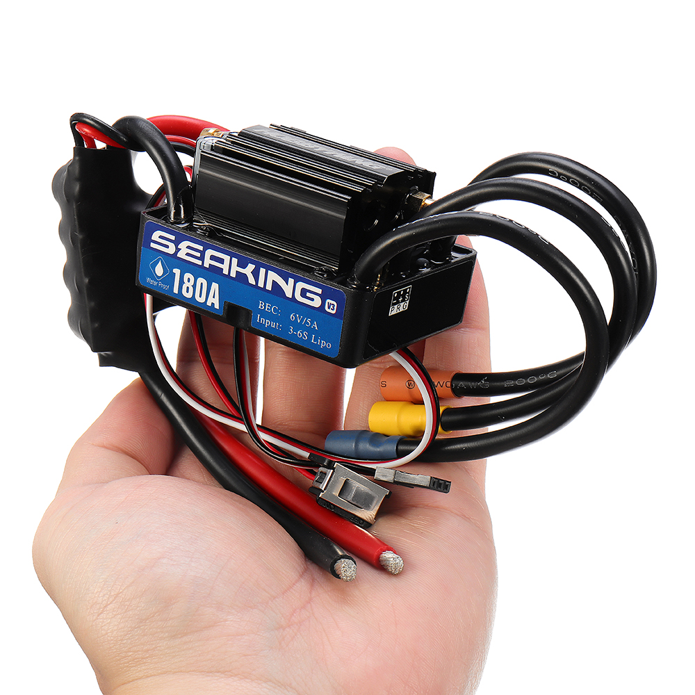 Hobbywing SeaKing Waterproof Speed Controller 60A 2-3S Lipo 6V//2A BEC Brushless